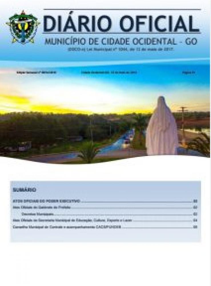 Diário Oficial nº 016, 25/05/2018